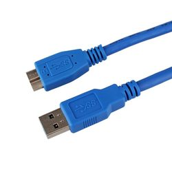 1m USB 3.0 Type A Male to Micro B Extension Cable for Data