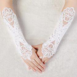 Category: Dropship Wedding & Events, SKU #933937, Title: Bridal Wedding Dress Fingerless Embroidered Gloves