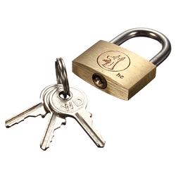 25mm Suitcase Locker Toolbox Brass Padlock Long Shackle keys