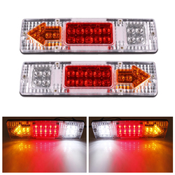 2Pcs 12V 19 LED Tear Tail Stop Light Turn Indicator Lamp For Car Truck Trailer