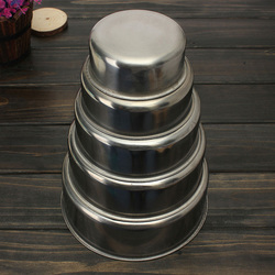 5PCS Stainless Steel Food Container Bowls Crisper Lunch Box Kitchen Food Container