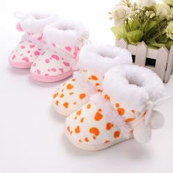 Toddler Baby Rabbit Shoes Cotton Flanging Leopard Velvet Boots