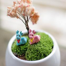 DIY Miniature Cute Deer Ornaments Potted Plant Garden Decor