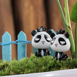 DIY Miniature Cute Panda Ornaments Potted Plant Garden Decor