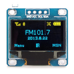 0.96 Inch 4Pin Blue Yellow IIC I2C OLED Display Module For