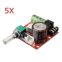 5Pcs 12V Mini Hi-Fi PAM8610 2X10W Audio Stereo Amplifier Board