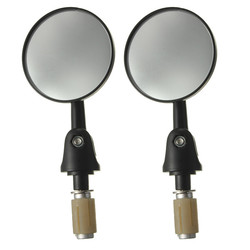 7/8Inch Motorcycle Handlebar End Side Rear View Round Mirrors
