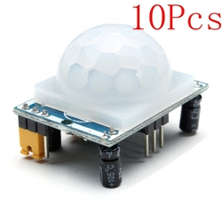 10Pcs HC-SR501 Human Infrared Sensor Module Including Lens