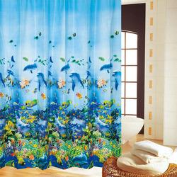 180*180cm Bathroom Undersea World Polyester Waterproof Shower Curtain