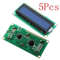 5Pcs 1602 Character LCD Display Module Blue Backlight For Arduino