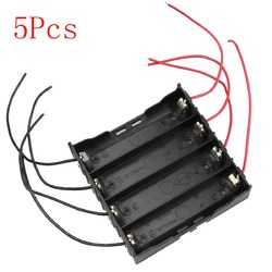 5pcs DIY 4 Slot 18650 Battery Holder With 8 Leads