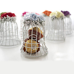 Bird Cage Wedding Candy Sweet Box Party Gift Candy Boxes Chocolate Flower Metel Box