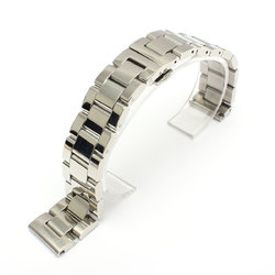 18mm 20mm 22mm Stainless Steel Solid Link Butterfly Buckle Watch Band