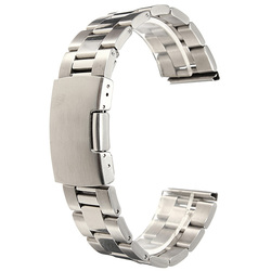 18/20/22/24mm Silver Stainless Steel Watch Band