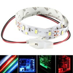 50CM SMD 5630 Non Waterproof LED Flexible Strip Light PC Computer Case Adhesive Lamp 12V