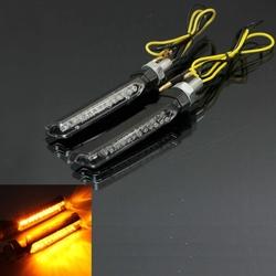 12V 13 LED Turn Signal Lights Motorcycle SUV ATV Amber Indicator E-mark Universal
