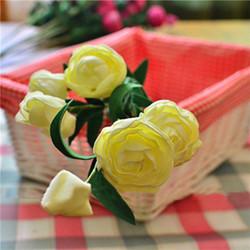 7 Heads Artificial Camellia Handmade Flowers Simulation Camellia Home Decoration