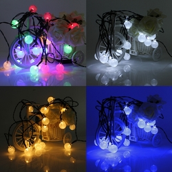 4.8M 20 LED Waterproof Solar Ball Fairy String Light Christmas Wedding Party Garden Decor