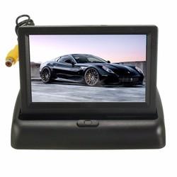 Car Wireless IR Rear View Backup Reversing Camera Kit Foldable LCD 4.3 Inch Monitor