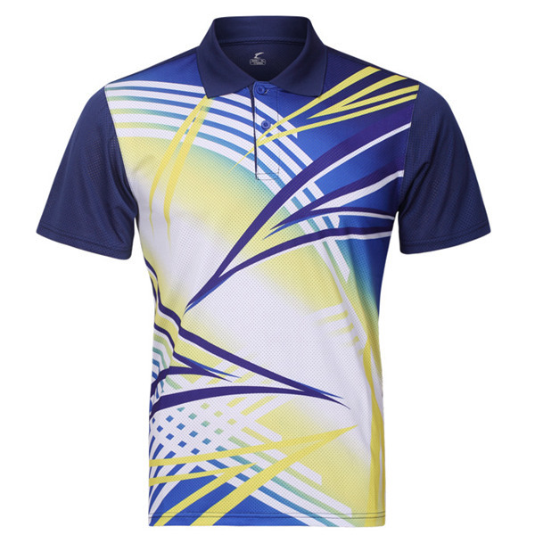 Mens Badminton Table Tennis Competitions Training Sports Suit Tops