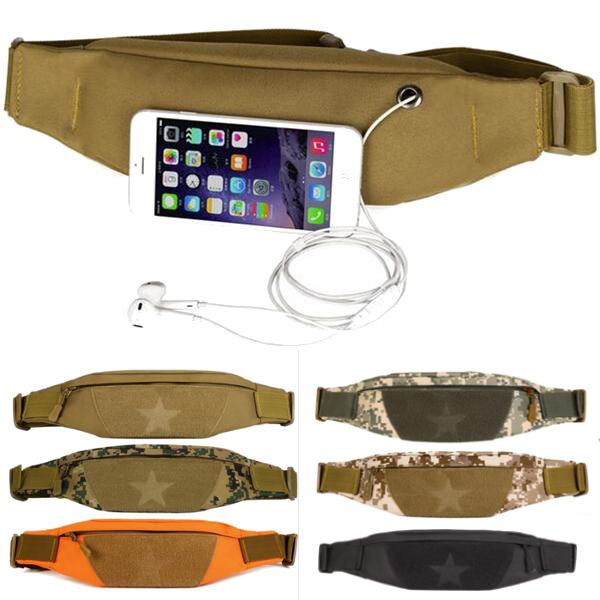 Unisex Outdooors Wasit Bag Nylon Waist Running Phone Bag Anti Theft Sport Waistband