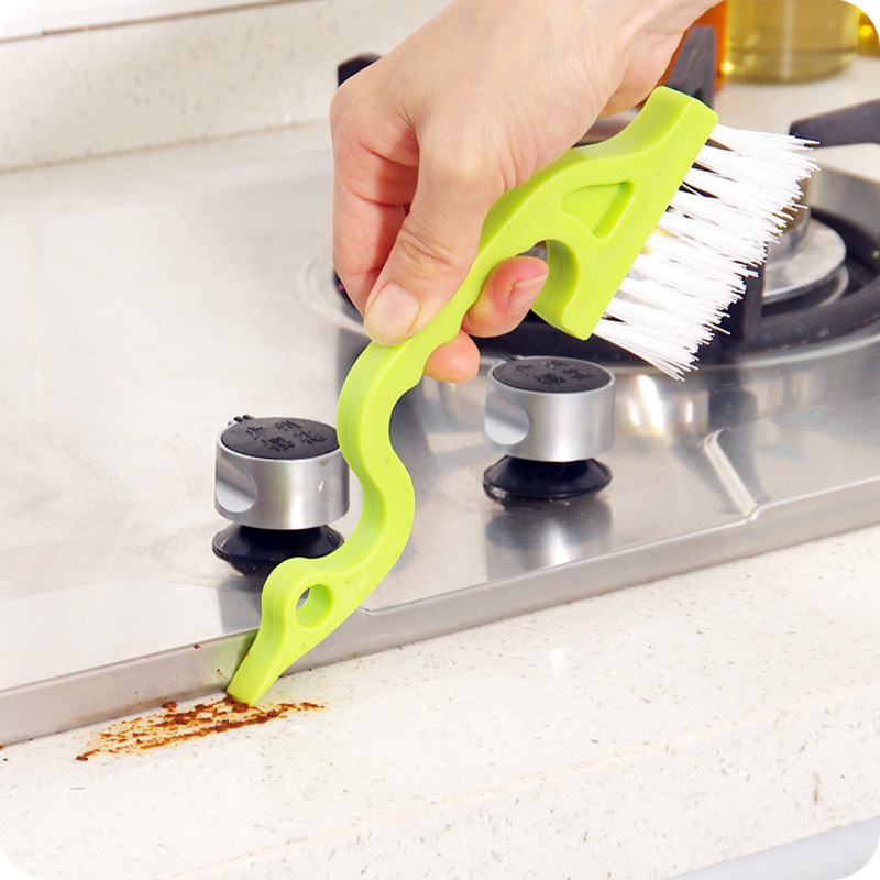 Honana CF-CT20 Hand-held Groove Gap Cleaning Tools Door Window Track Kitchen Cleaning Brushes