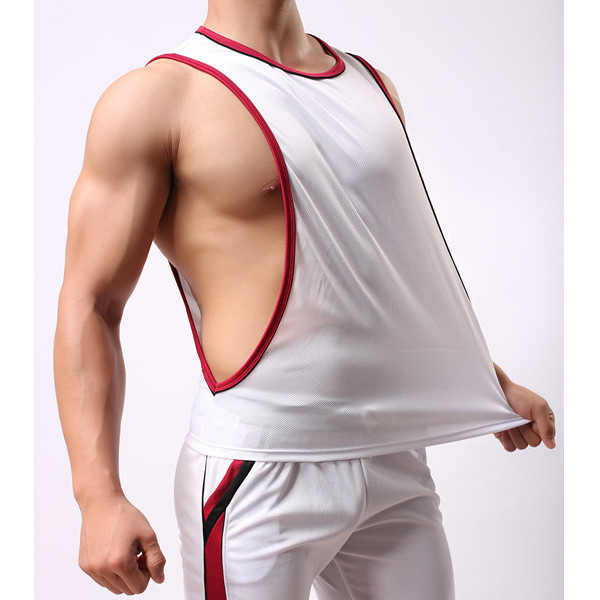Men's Sleeveless Loose Fit Vest Casual O-neck Sport Breathable Tank Tops