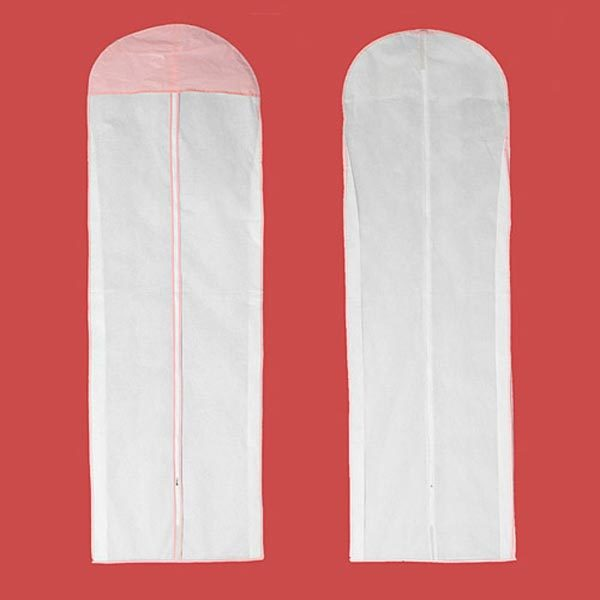 150CM Wedding Dress Storage Bag Bridal Gown Garment Cover Carrier Zip Clothes Storage Bag