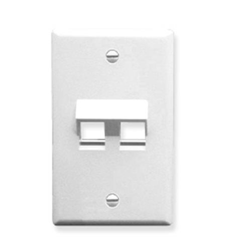 FACEPLATE ANGLED 1-GANG 2-PORT WHITE