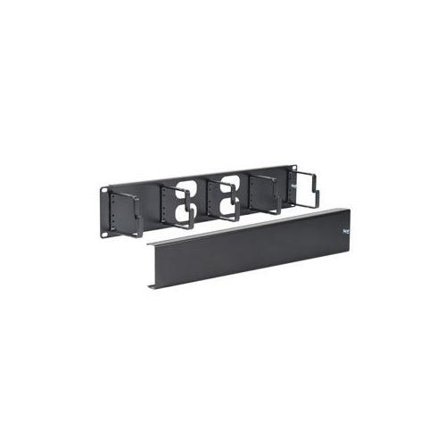 PANEL CABLE MGMT METAL RING AND COVER 2U