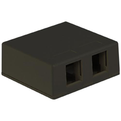 IC107SB2BK SURFACE BOX 2PT BLACK