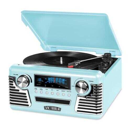 Victrola Retro Record Player Teal