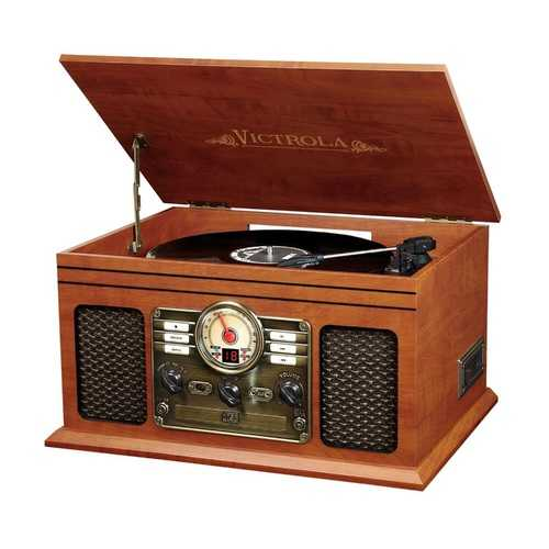 6-in-1 Victrola Entertainment Center
