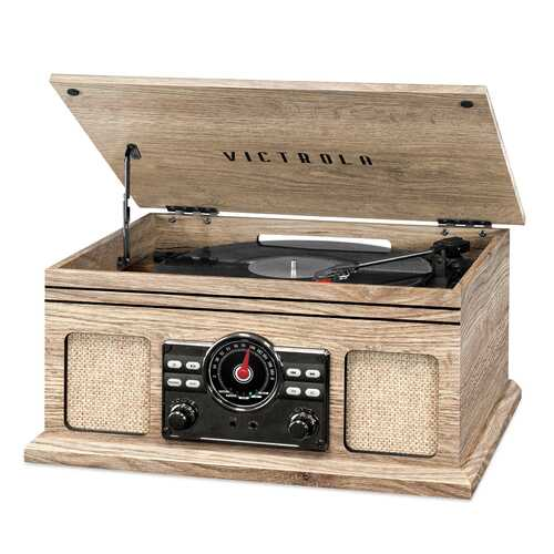 Victrola 4in1 BT Turntable FM Oatmeal