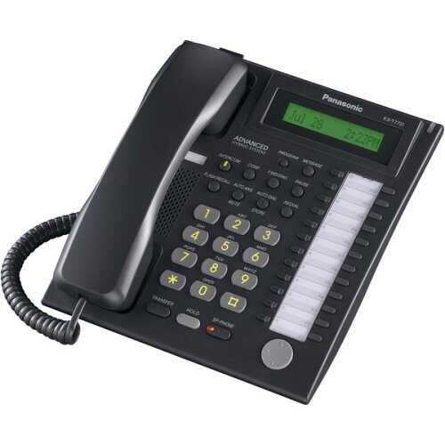 24 BUTTON SPEAKERPHONE W LCD BLACK