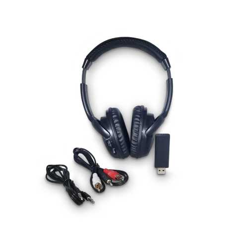 RF Wireless Headphones w FM scan/USB Tra