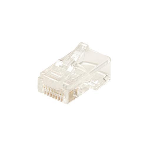 6x6 Round/Solid Modular Plug 100 Pack