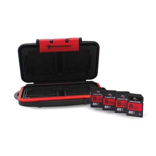 16 Card Slot Case w/(4) 8GB SD Card
