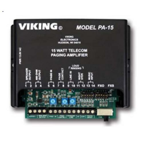 15 Watt Paging Amplifier and Loud Ringer