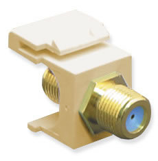 Module F-Type -Gold Plated 3GHZ Ivory