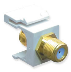 Module F-Type Gold Plated 3GHZ White