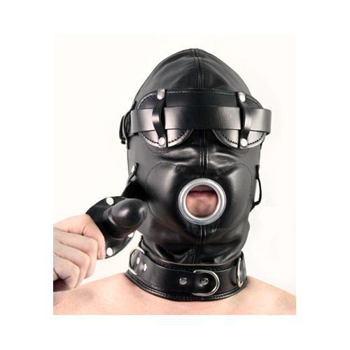 Total Lockdown Leather Hood - MediumLarge