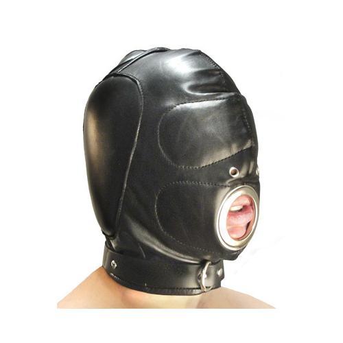 Leather Padded Hood with Mouth Hole - MediumLarge