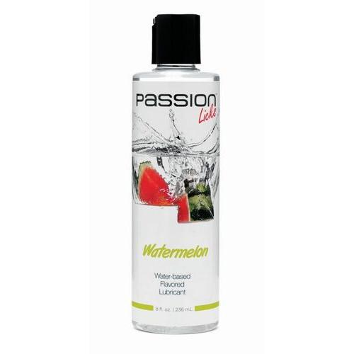 Passion Licks Watermelon Water Based Flavored Lubricant - 8 oz