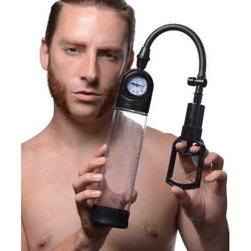 Trigger Penis Pump with Built-in Pressure Gauge