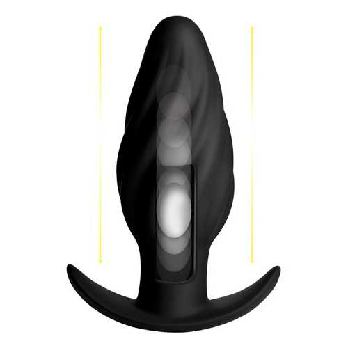 Kinetic Thumping 7X Swirled Anal Plug