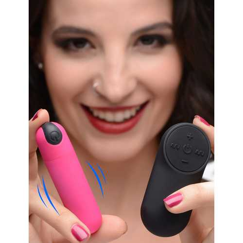Vibrating Bullet with Remote Control - Pink