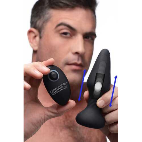 7X Slim Thumping Silicone Anal Plug