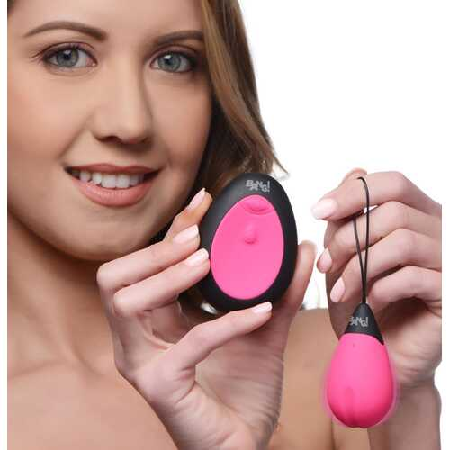 10X Silicone Vibrating Egg - Pink