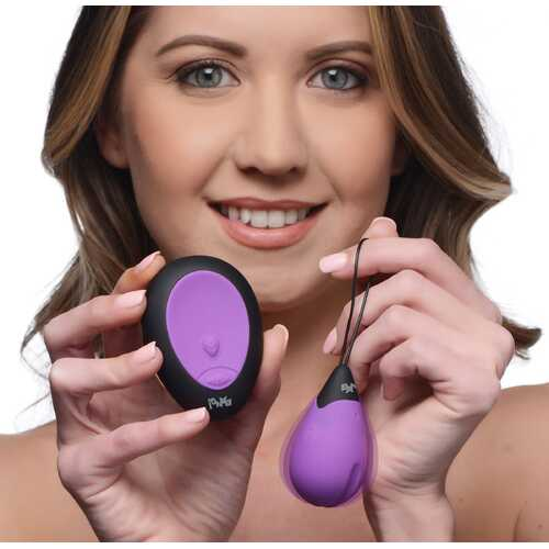 10X Silicone Vibrating Egg - Purple